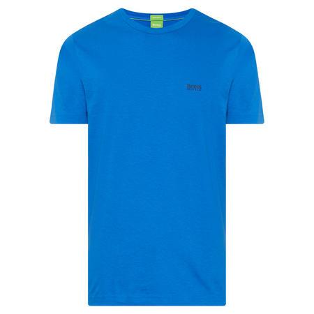 Crew Neck Logo T-Shirt Blue