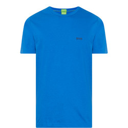 Crew Neck Logo T-Shirt Blue