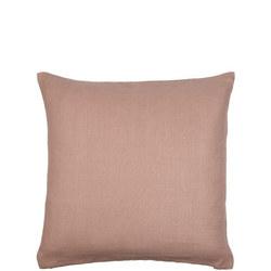 Herringbone Linen Cushion Pink
