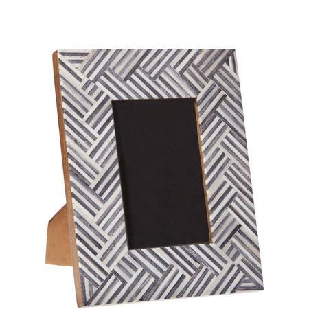 """Zig Zag 4X6"""" Frame Grey & White"""