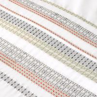 Fusion Tile Embroidery Duvet Cover Set