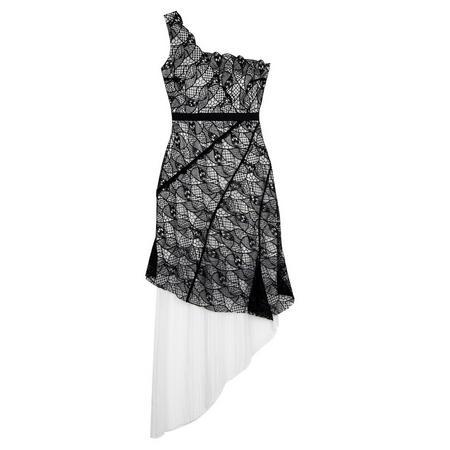 Model Squad Asymmetric Dress Black