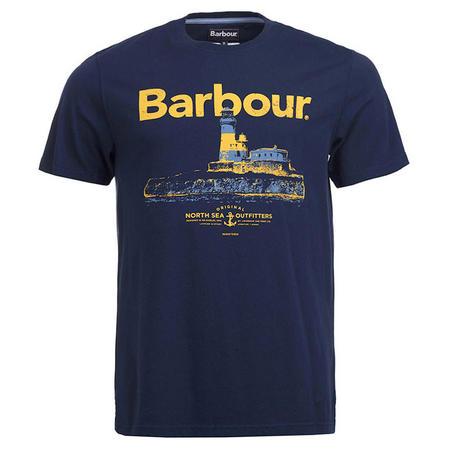 Padstow Lighthouse T-Shirt Blue