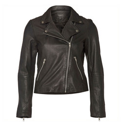 Marlen Biker Jacket Black