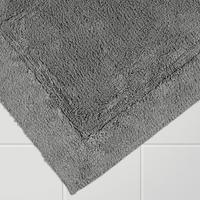 Egyptian Cotton Deep Pile Bath Mat Micro fresh Grey