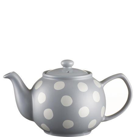 Silver Spot Grey Teapot For 6