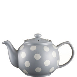 Silver Spot Grey Teapot For 6