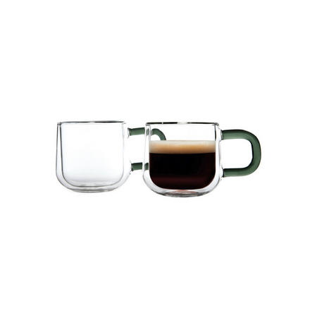 Double Wall Set Of 2 Espresso Cups Clear
