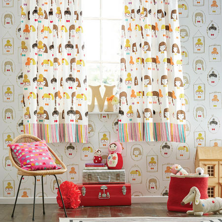 Hello Dolly Childrens Curtains