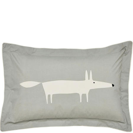 Mr Fox Silver Oxford Pillowcase