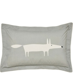 Mr Fox Silver Oxford Pillowcase