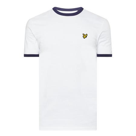Short Sleeve Ringer T-Shirt White