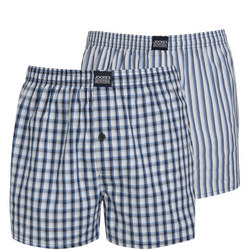 Two-Pack Cotton Boxers Multicolour