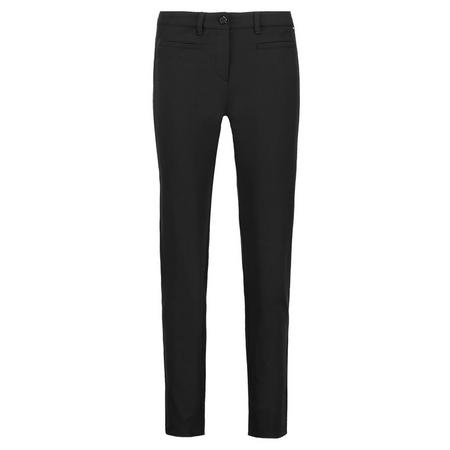 Basic Slim Fit Trousers Black