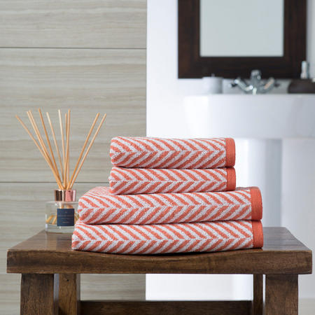 Savannah Stripe Towel Orange