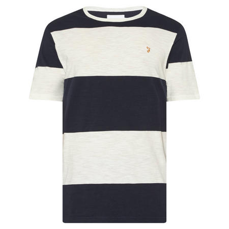 Woolacombe Stripe T-Shirt Navy