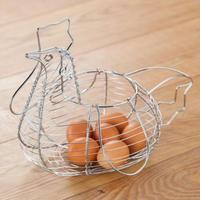 Chicken Chrome Wire Egg Holder