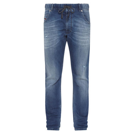 Krolley Jogger-Style Jeans Mid-Blue Wash