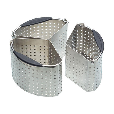 Master Class Set of 3 Saucepan Divider Baskets Stainless Steel
