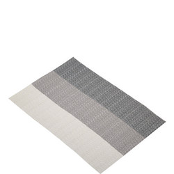 Woven Grey Stripes Placemat Grey
