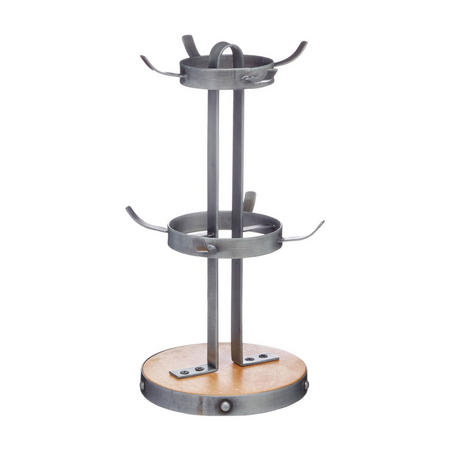 Metal/Wooden Mug Tree Stand