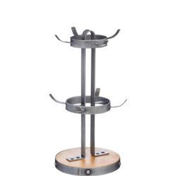 Metal/Wooden Mug Tree Stand