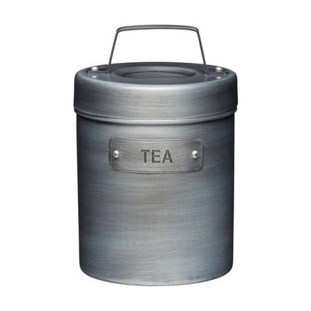 Vintage Style Metal Tea Canister