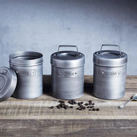 Vintage Style Metal Coffee Canister
