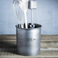 Vintage Style Metal Utensil Holder