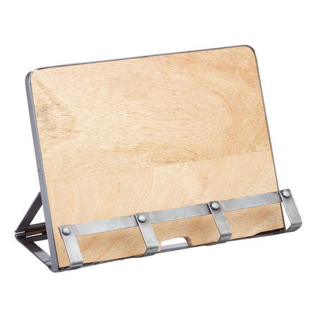 Metal/Wooden Cookbook/Tablet Stand