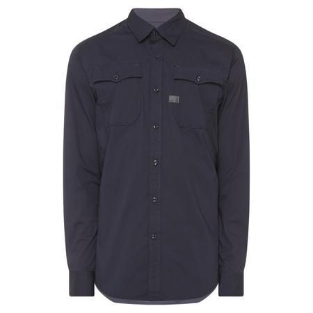 Landoh Long Sleeve Poplin Shirt Navy