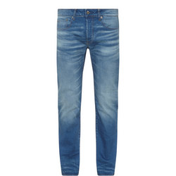 3301 Straight Fit Jeans Mid Blue