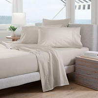 300tc Percale Fitted Sheet Sand
