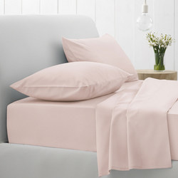 500tc Cotton Sateen Fitted Sheet Angel