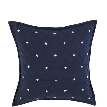Quilt Star Cushion Navy