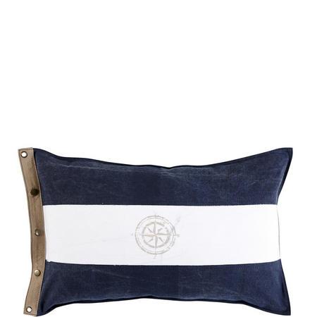 Compass Flag Cushion Navy
