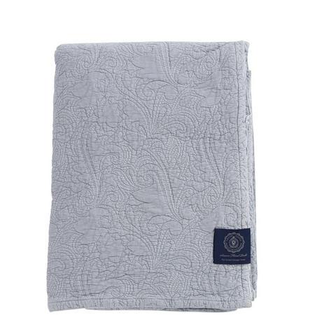 Floral Quilt Bedspread Grey