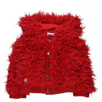Baby Fluffy Hooded Jacket Red