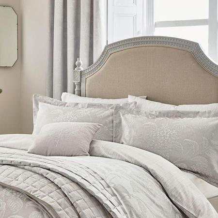 Hortensia Silver Standard Pillowcase