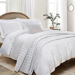 Hortensia White Duvet Cover
