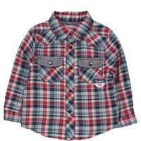 Baby Long Sleeve Check Shirt Red