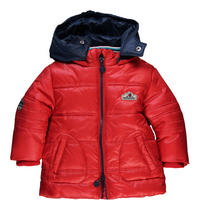 Baby Zip Front Puffa Jacket Red