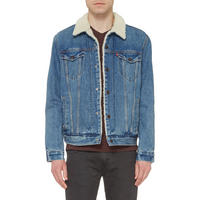 Sherper Trucker Jacket Mid Wash