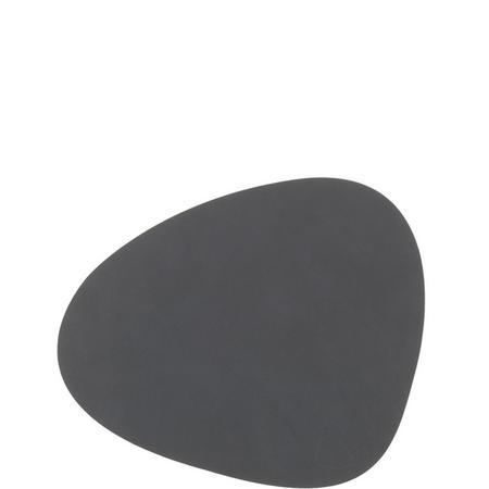 Tablemat Small Curve 24 X 28 Cm Dark Grey Nupo Grey