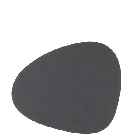 Tablemat Large Curve 37 X 44 Cm Dark Grey Nupo Grey