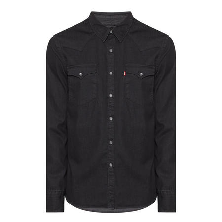 Denim Western Shirt Black