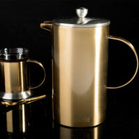 Edited 8 Cup Cafetiere Brushed Gold