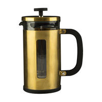 Edited 8 Cup Pisa Cafetiere Brushed Gold