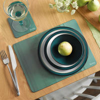 Colours Green Placemats Set of 6  Green