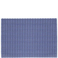 12-Piece Woven Vinyl Placemats And Coasters Set Blue